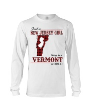 Just A New Jersey Girl In Vermont Long Sleeve Tee thumbnail