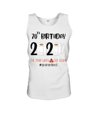 70th Birthday 70 Years Old Unisex Tank tile