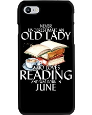 Never Underestimate Old Lady Reading June Black Phone Case thumbnail