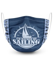 I'd Rather Be Sailing 2 Layer Face Mask - Single front