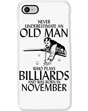Never Underestimate Old  Man Billiards November Phone Case thumbnail