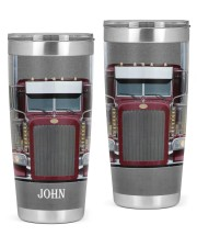Trucker Driver Personalized Christmas Gift 20oz Tumbler front