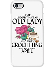 Never Underestimate Old Lady Crocheting April Phone Case thumbnail