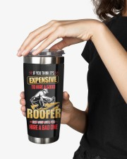 Roofer If you think its expensive Personalized 20oz Tumbler aos-20oz-tumbler-lifestyle-front-25