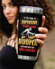 Roofer If you think its expensive Personalized 20oz Tumbler aos-20oz-tumbler-lifestyle-front-93