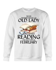 Never Underestimate Old Lady Reading February Crewneck Sweatshirt thumbnail