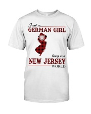 Just A German Girl In New Jersey World Classic T-Shirt front