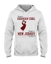 Just A German Girl In New Jersey World Hooded Sweatshirt thumbnail