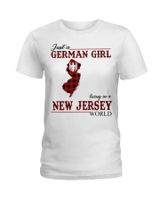 Just A German Girl In New Jersey World Ladies T-Shirt thumbnail