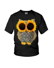 hippie owl sunflower Youth T-Shirt thumbnail