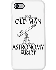 Never Underestimate Old Man Astronomy August Phone Case thumbnail
