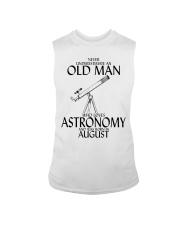 Never Underestimate Old Man Astronomy August Sleeveless Tee thumbnail