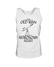 Never Underestimate Old Man Astronomy August Unisex Tank thumbnail