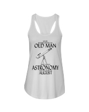 Never Underestimate Old Man Astronomy August Ladies Flowy Tank thumbnail