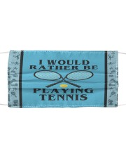 I Would Rather Be Playing Tennis Cloth face mask thumbnail