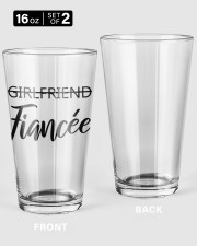 Postponed wedding glasses 16oz Pint Glass - 2 pieces front