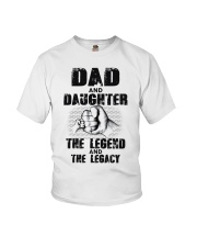 Dad And Daughter The Legend And The Legacy Youth T-Shirt thumbnail