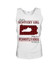 Just A Kentucky Girl In Pennsylvania World Unisex Tank thumbnail