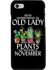 Never Underestimate Old Lady Love Plants November Phone Case thumbnail