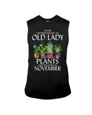 Never Underestimate Old Lady Love Plants November Sleeveless Tee thumbnail