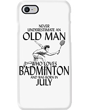 Never Underestimate Old Man Badminton July Phone Case thumbnail
