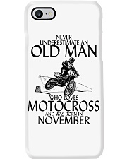 Never Underestimate Old Man Motocross November Phone Case thumbnail