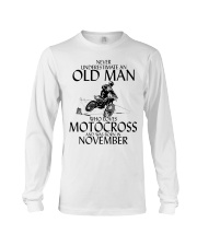 Never Underestimate Old Man Motocross November Long Sleeve Tee thumbnail