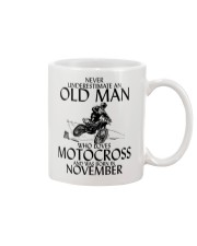 Never Underestimate Old Man Motocross November Mug thumbnail
