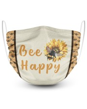 Bee Happy 2 Layer Face Mask - Single front
