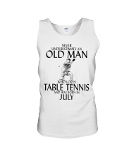 Never Underestimate Old Man Table Tennis July Unisex Tank thumbnail