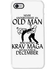 Never Underestimate Old Man Krav maga December Phone Case thumbnail