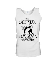 Never Underestimate Old Man Krav maga December Unisex Tank thumbnail