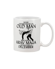 Never Underestimate Old Man Krav maga December Mug thumbnail