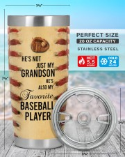Baseball Personalized Christmas Gift 20oz Tumbler aos-20oz-tumbler-lifestyle-front-47