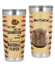 Baseball Personalized Christmas Gift 20oz Tumbler front