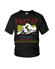 PAPPAP The Man The Myth The Bad Influence Youth T-Shirt tile