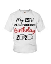 25th Birthday Quarantined 25 Year Old Youth T-Shirt thumbnail