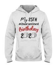 25th Birthday Quarantined 25 Year Old Hooded Sweatshirt thumbnail
