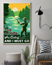 Fishing-The Trouts Are Calling And I Must Go 24x36 Poster lifestyle-poster-1