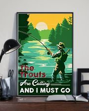 Fishing-The Trouts Are Calling And I Must Go 24x36 Poster lifestyle-poster-2