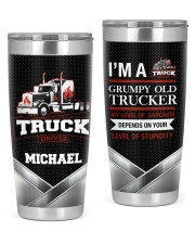 Grumpy Old Trucker Personalized Christmas Gift 20oz Tumbler front