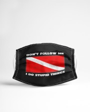 Dont follow me i do stupid things  Cloth face mask aos-face-mask-lifestyle-22