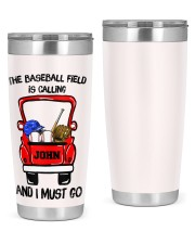 The baseball field-Personalized Christmas Gift 20oz Tumbler front