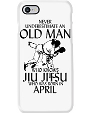 Never Underestimate Old Man Jiu Jitsu April Phone Case tile