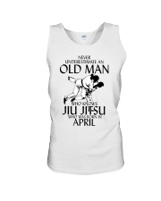 Never Underestimate Old Man Jiu Jitsu April Unisex Tank thumbnail