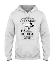 Never Underestimate Old Man Jiu Jitsu April Hooded Sweatshirt tile