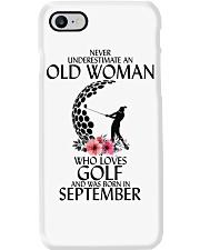 Never Underestimate Old Woman Golf September Phone Case thumbnail