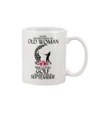 Never Underestimate Old Woman Golf September Mug thumbnail