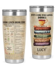 Just a girl who loves Books Personalized 20oz Tumbler front