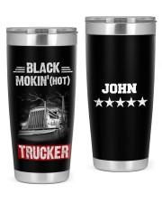 Black smokin' hot trucker Personalized Gif 20oz Tumbler front